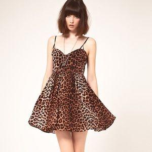 One Teaspoon Surrender Leopard Swing Dress M 6 US